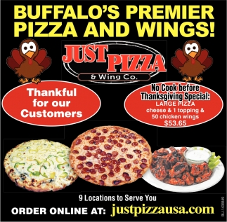 Buffalo's Premier Pizza And Wings!