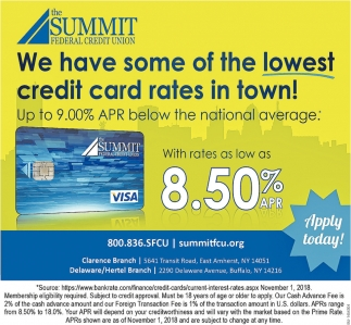 We Have Some Of The Lowest Credit Card Rates