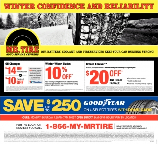 Make An Appointment Mr Tire Auto Service Centers >> Winter Confidence Mr Tire Autoservice Centers