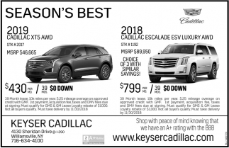 Season S Best Keyser Cadillac Williamsville Ny