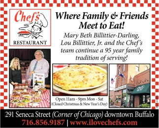 Where Family & Friends Meet To Eat!
