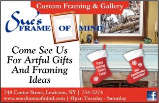 Custom Framing & Gallery