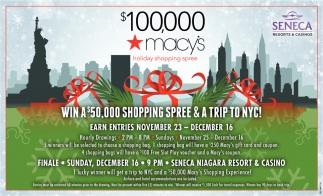 $100,000 Macy's
