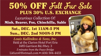 50% Off Fall Fur Sale