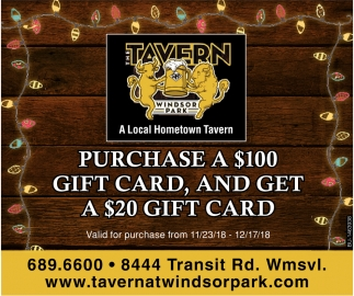 Purchase A $100 Gift Card