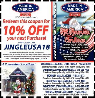 Redeem This Coupon For 10% Off Your Next Purchase!