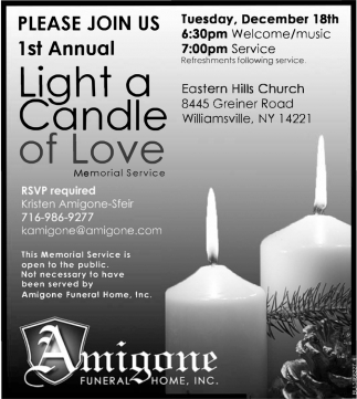 1st Annual Light A Candle Of Love