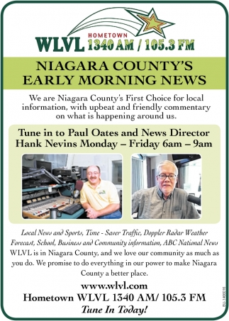 Niagara County's Early Morning News