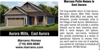 Marrano Patio Homes In East Aurora