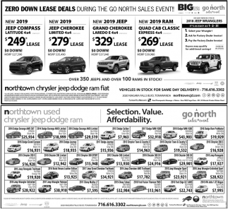Zero Down Lease Deals , Northtown Chrysler Jeep Dodge