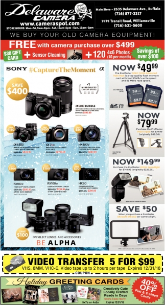 We Buy Your Old Camera Equipment