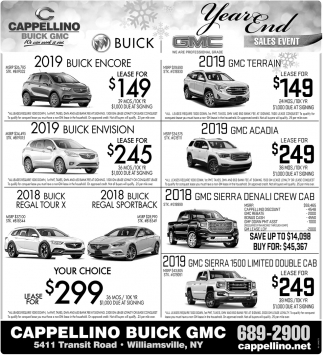 Buick Dealerships In Minnesota: Year End Sales Event, Cappellino Buick GMC, Williamsville, NY