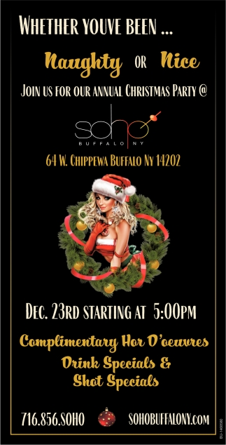 Join Us For Our Annual Christmas Party