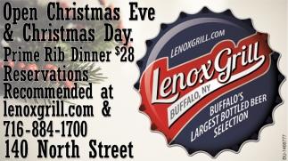 Open Christmas Eve & Christmas Day