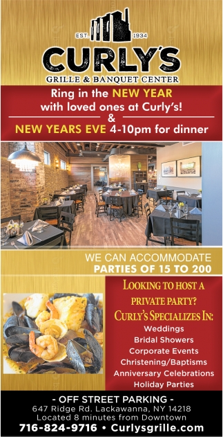 Ring In The New Year With Loved Ones At Curly's