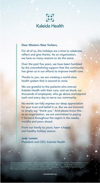 Dear Western New Yorkers