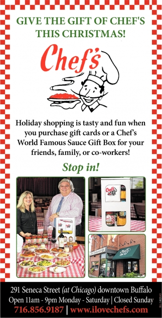 Give The Gift Of Chef's This Christmas!