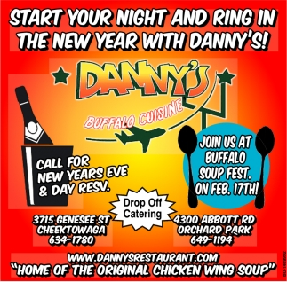 Start Your Night And Ring In The New Year With Danny's!