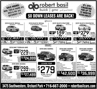 $0 Down Leases Are Back!
