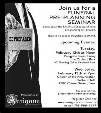 Funeral Pre-Planing Seminar
