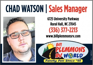 Chad Watson Sales Manager