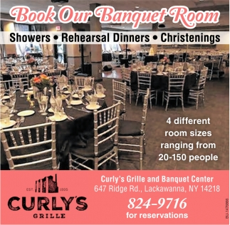 Book Our Banquet Room