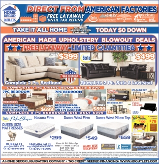 Direct From American Factories Home Decor Outlets Buffalo Ny
