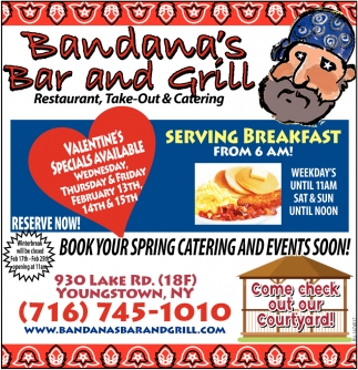 Valentine's Specials Available