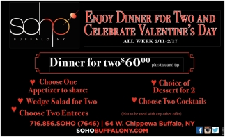Enjoy Dinner For Two