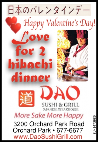 Love For 2 Hibachi Dinner