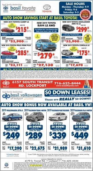 Auto Show Savings