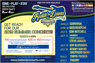 2019 Summer Concerts!