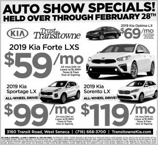 Auto Show Specials!