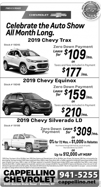 Year End Lease Sales Event Cappellino Chevrolet Boston Ny