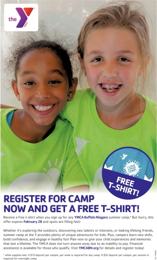 Register For Camp Now And Get A Free T-Shirt!