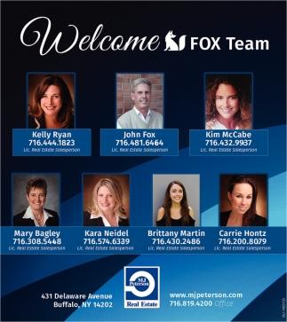 Welcome Fox Team