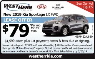 New 2019 Kia Sportage