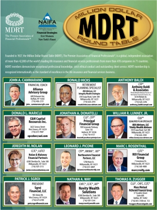 Million Dollar MDRT Round Table