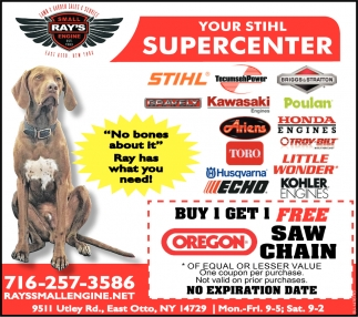 Your STIHL Supercenter, Ray's Small Engine, East Otto, NY