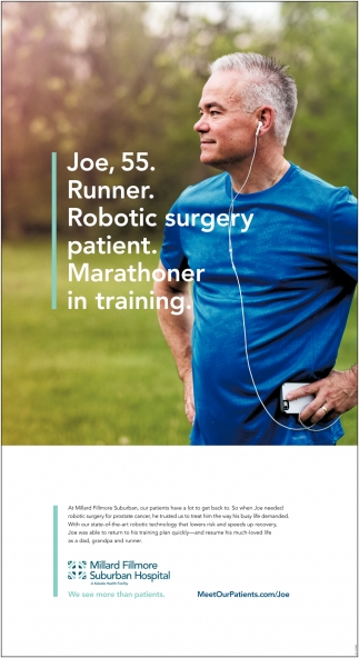 Joe, 55. Runner. Robotic Surgery Patient.