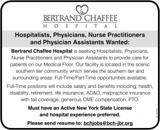 Physician Assistants Wanted