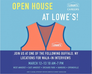 Open House At Lowe's!