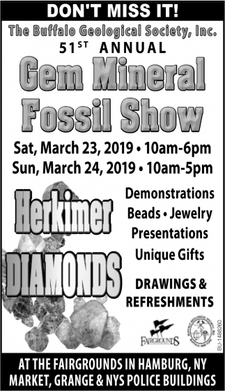 51th Annual Gem Mineral Fossil Show