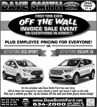Off The Wall Invoice Sale Event