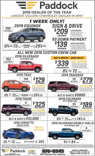 West Ridge Auto Sales >> 1 Week Only!, Paddock Chevrolet, Buffalo, NY