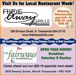 Watch Us For Local Restaurant Week!