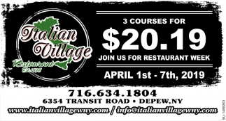 3 Courses For $20.19