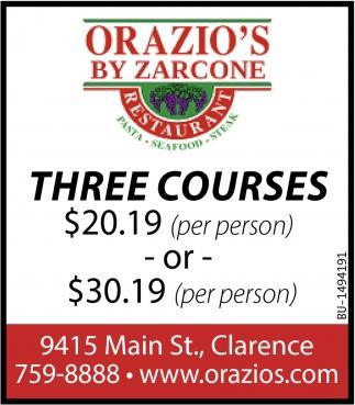 Three Courses