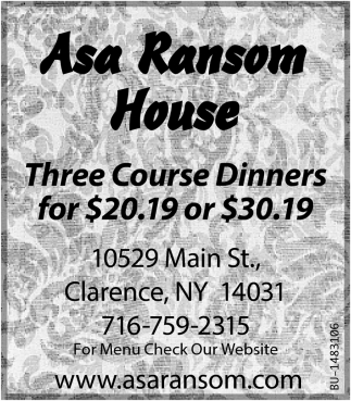 Three Course Dinners