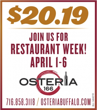 Join Us For Restaurant Week!